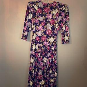 Vintage By Choice purple flower dress Sz 9